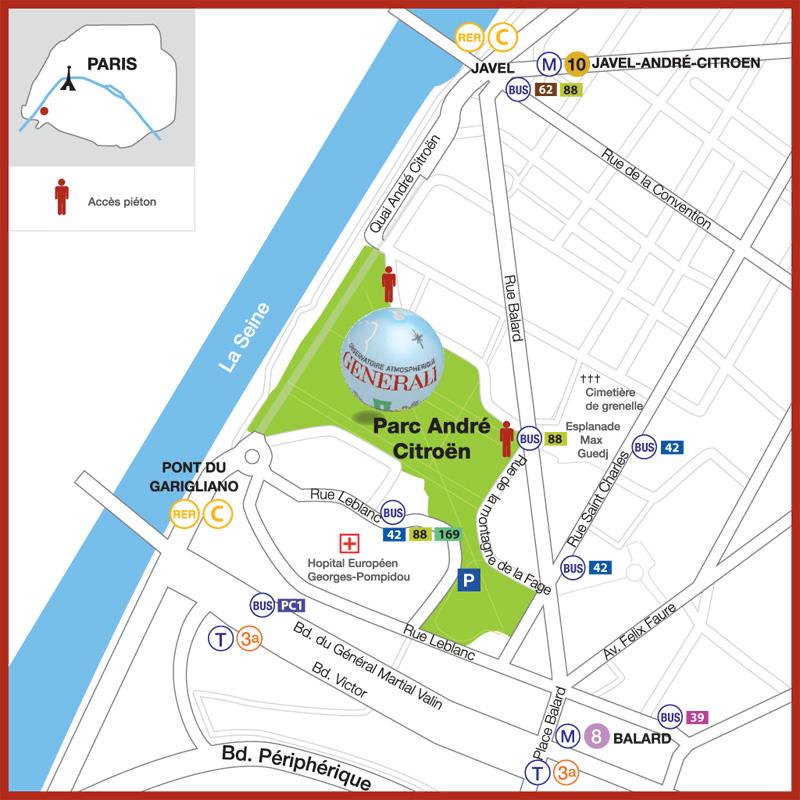 Plan BALLON DE PARIS GENERALI
