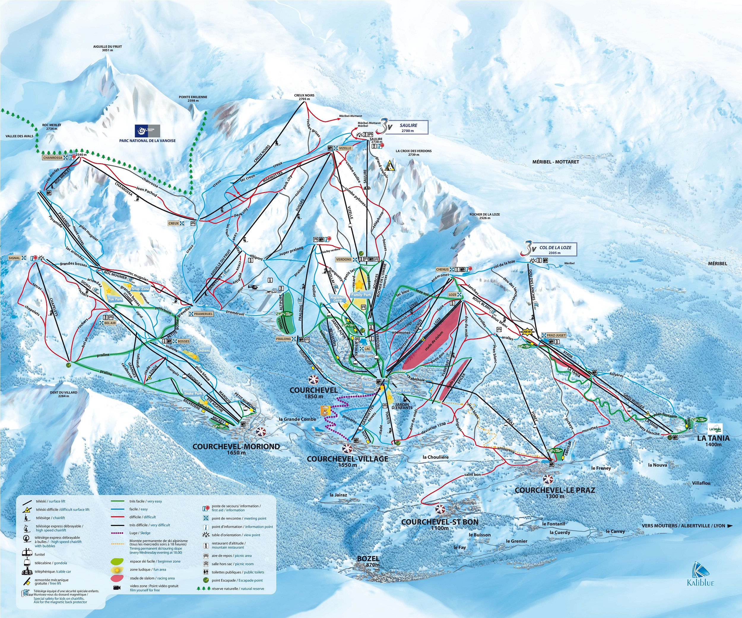 Plan COURCHEVEL - VALLEE