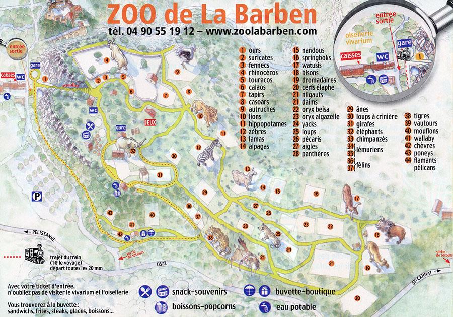 Plan ZOO DE LA BARBEN