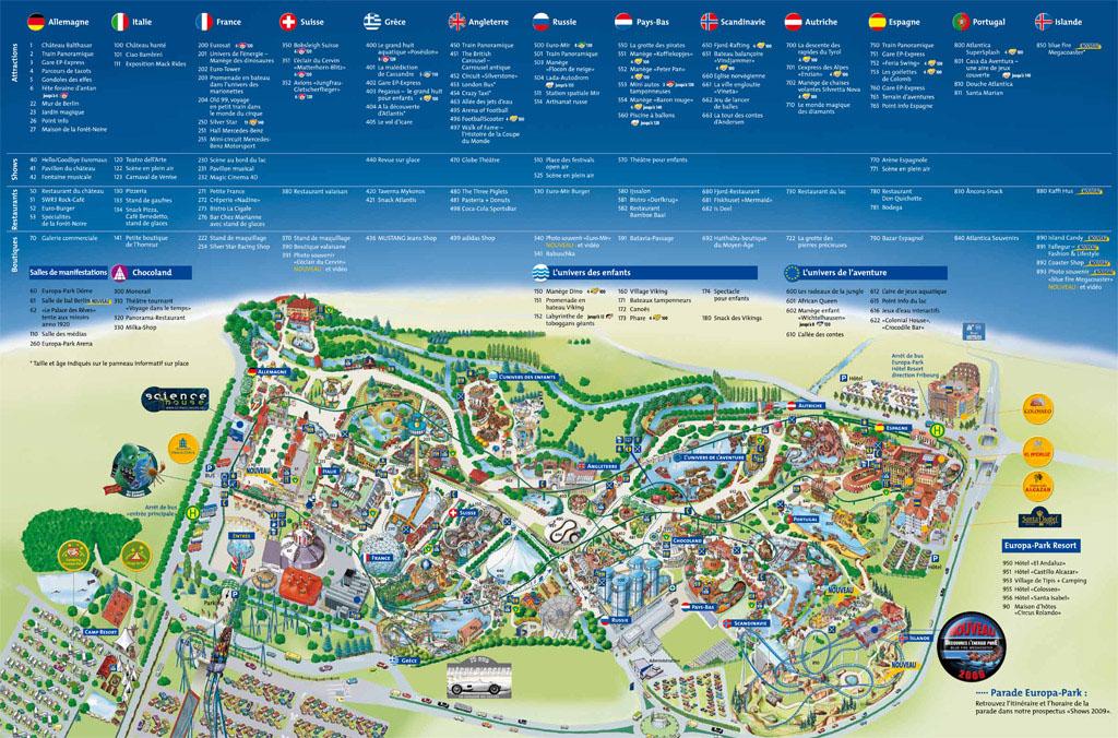 Plan EUROPA PARK