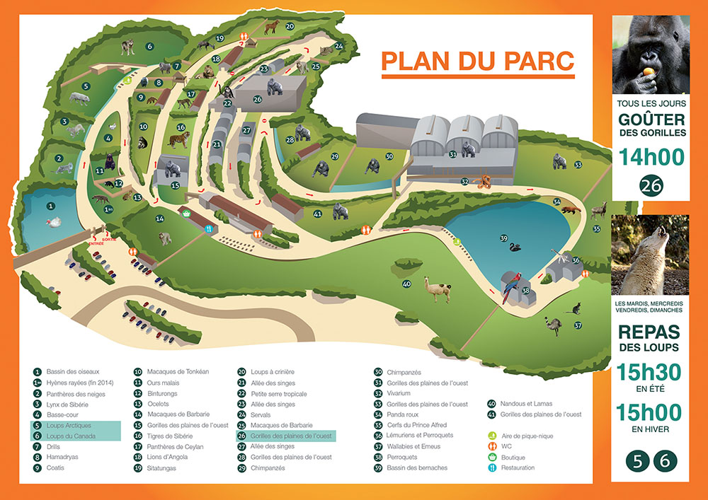Plan ZOO DE SAINT MARTIN LA PLAINE