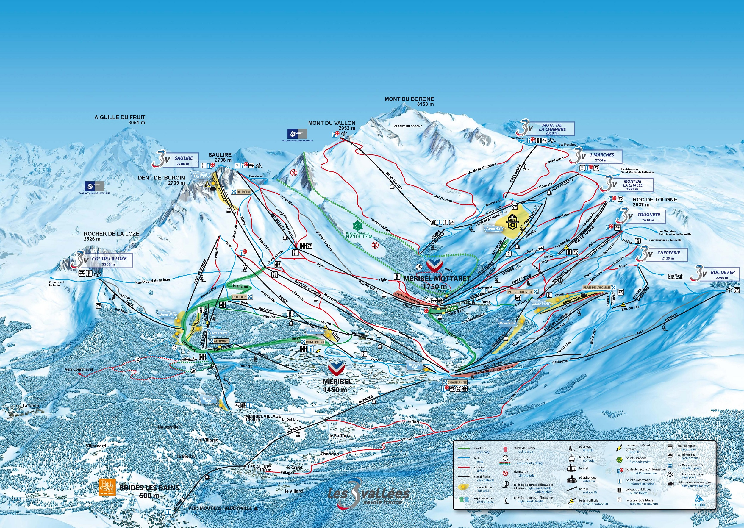 Plan MERIBEL - VALLEE
