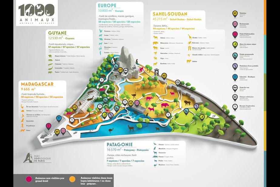 Plan ZOO DE PARIS