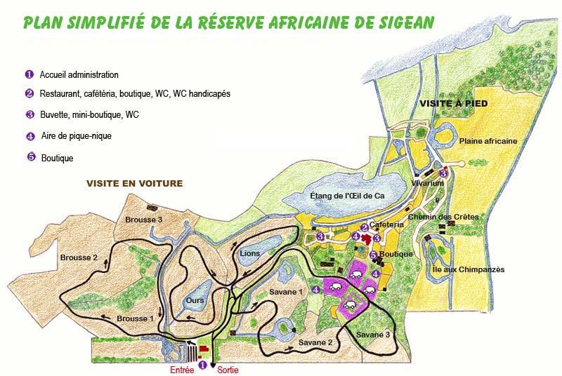 Plan RESERVE AFRICAINE DE SIGEAN