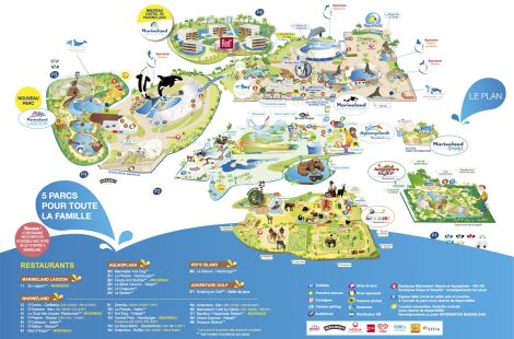 Plan AQUASPLASH DE MARINELAND